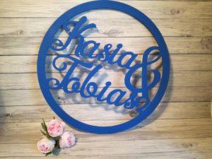 koło z imionami na wesele, koła weselne, koło na ściankę, dekoracje na wesele, inspiracje weselne, napisy weselne, napisyweselne.pl, koło z nazwiskiem na wesele,