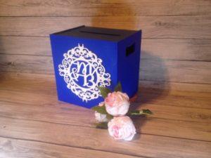 chabrowa skrzynka na koperty, chabrowa dekoracja weselna, chabrowe dekoracje, chabrowy, skrzynka na koperty, inspiracje weselne, inspiracje-weselne, napisy weselne, napisyweselne.pl