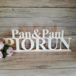 Pan i Pani nazwisko, Pan i Pani, napis na wesele, dekoracje na wesele, napisy weselne, inspiracje weselne, dekoracje sali weselnej, dekoracja sali weselnej, napisy weselne,