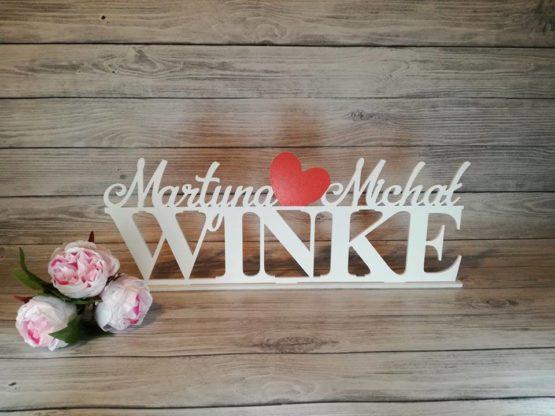 dekoracje na wesele, imiona z nazwiskiem pary młodej, napisy na wesele, napisy weselne, weselne inspiracje, dekoracje weselne, imiona na wesele,