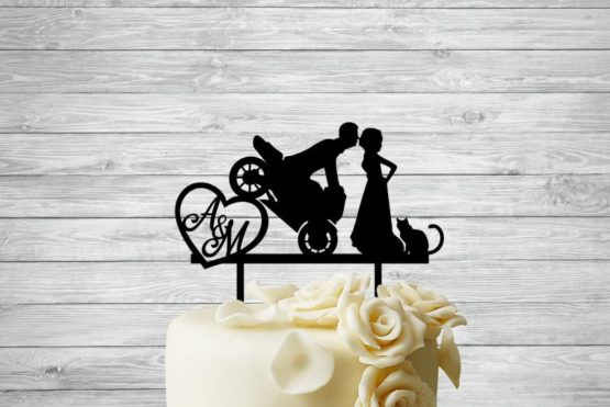 topper, topper motocykl, topper motor, toper, topper na tort,toppery na tort, topper z inicjałamii, inspiracje weselne, weselne inspiracje, dekoracje weselne, napisy weselne