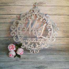 kolo ornament na wesele glamour, dekoracje weselne w stylu glamour, ornament glamour, dekoracje glamour, napisy na wesele glamour, dekoracje na wesele w stylu glamour,