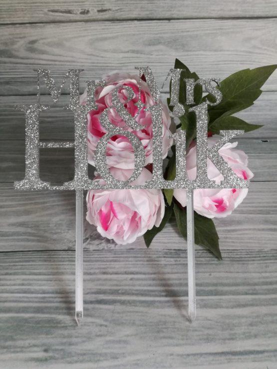 topper, toppery, topper glamour, toppery glamour, topper Mr & Mrs, toppery Mr & Mrs, napisy na wesele, napisy ślubne, dekoracje na wesele,