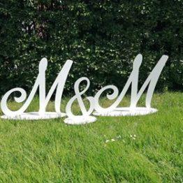 Inicjały duże na wesele, duże inicjały, duże inicjały na wesele, napisy ślubne, napisy na wesele, napisy przed stół państwa młodych, dekoracje na wesele,