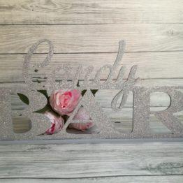 candy bar, candy bar na wesele, candy bar glamour, dekoracja słodkiego stołu, dekoracje słodkości, cukiernia na wesele, napisy weselne, napisy ślubne,