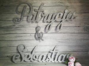 imiona na ściankę glamour, dekoracje glamour, napisy ślubne, napisy na wesele, napisy weselne, dekoracje weselne, napisy na ściankę