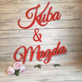 imiona na ściankę weselna, imiona na wesele, dekoracja ścianki weselnej, imiona wesele, co powiesić na ściance weselnej