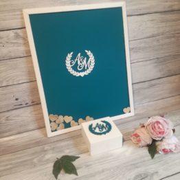księga gości, księgi gości, księga gości na wesele, ramka z imionami na wesele, dekoracje na wesele, napisy weselne, cuda z drewna, ramka na wesele