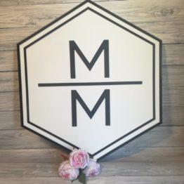 heksagon na wesele, heksagony na wesele, dekoracje weselne heksagon, heksagony z inicjałami, heksagony, heksagon, dekoracja ścianki weselnej, napisy na wesele, dekoracje w kształcie heksagonu, dekoracje w kształcie sześciokątu,