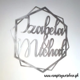 heksagon na wesele, heksagony na wesele, heksagon z imionami, heksagony z imionami, heksagon na ściankę, heksagony na ściankę, dekoracje weselne, napisy weselne, napisy na wesele,