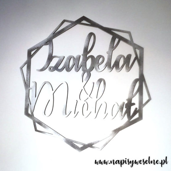 heksagon na wesele, heksagony na wesele, heksagon z imionami, heksagony z imionami, heksagon na ściankę, heksagony na ściankę, dekoracje weselne, napisy weselne, napisy na wesele, 3