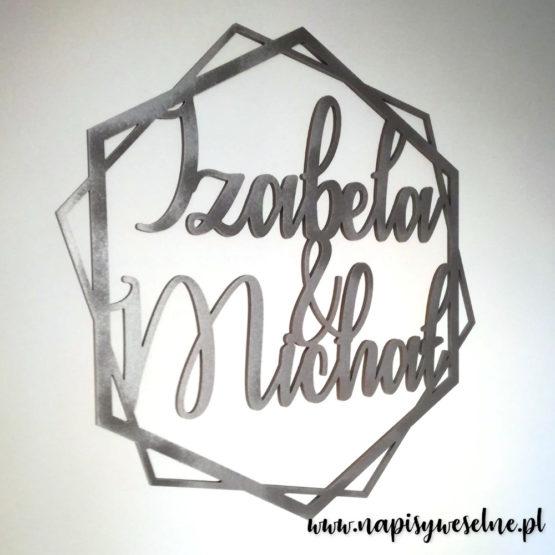 heksagon na wesele, heksagony na wesele, heksagon z imionami, heksagony z imionami, heksagon na ściankę, heksagony na ściankę, dekoracje weselne, napisy weselne, napisy na wesele, 4