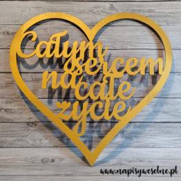serce na wesele, serca na wesele, całym sercem na całe życie, napis całym sercem na całe życie, dekoracja ścianki weselnej, na ściankę weselną, napisy weselne, napisy ślubne, dekoracje na wesele, 1