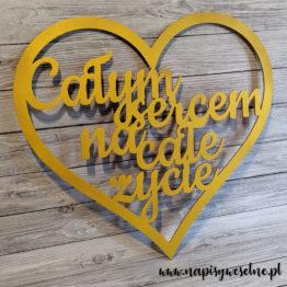 serce na wesele, serca na wesele, całym sercem na całe życie, napis całym sercem na całe życie, dekoracja ścianki weselnej, na ściankę weselną, napisy weselne, napisy ślubne, dekoracje na wesele, 2