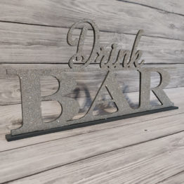 napis drink bar glamour, napis na drink bar, napis dla barmana, dekoracje glamour, glamour, dekoracje na wesele glamour, napisy weselne, napisy ślubne, 2