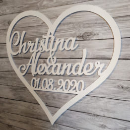 serce na wesele, serca na wesele, serce z imionami i datą, serca z imionami i datą, serce, serca, dekoracja ścianki weselnej, napisy na wesele, napisy weselne, 3