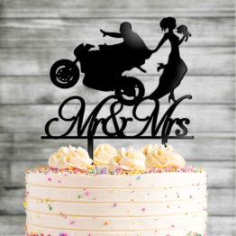 topper motocykl na wesele, topper z motocyklem na wesele, toppery z motocyklem, topper motocykl pani młoda, toppery, topper, napisy na wesele, napisy weselne, 1