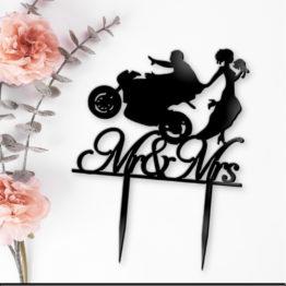 topper motocykl na wesele, topper z motocyklem na wesele, toppery z motocyklem, topper motocykl pani młoda, toppery, topper, napisy na wesele, napisy weselne, 2