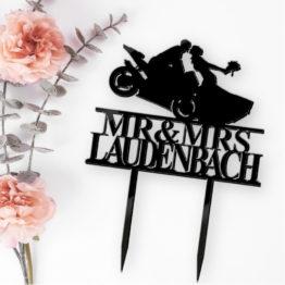 topper motocykl z nazwiskiem, toppery motocykl z nazwiskiem, topper z motocyklem na wesele, toppery z motocyklem na wesele, napisy weselne, napisy na wesele,2