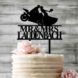 topper motocykl z nazwiskiem, toppery motocykl z nazwiskiem, topper z motocyklem na wesele, toppery z motocyklem na wesele, napisy weselne, napisy na wesele,