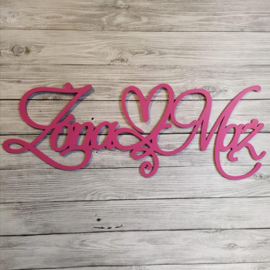 napis na ściankę weselną, napisy na ściankę weselną, napisy na ściankę, napis na ściankę, napis żona mąż, napisy żona mąż, napis z serduszkiem, napisy weselne, 2
