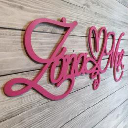 napis na ściankę weselną, napisy na ściankę weselną, napisy na ściankę, napis na ściankę, napis żona mąż, napisy żona mąż, napis z serduszkiem, napisy weselne,