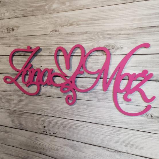 napis na ściankę weselną, napisy na ściankę weselną, napisy na ściankę, napis na ściankę, napis żona mąż, napisy żona mąż, napis z serduszkiem, napisy weselne, 3