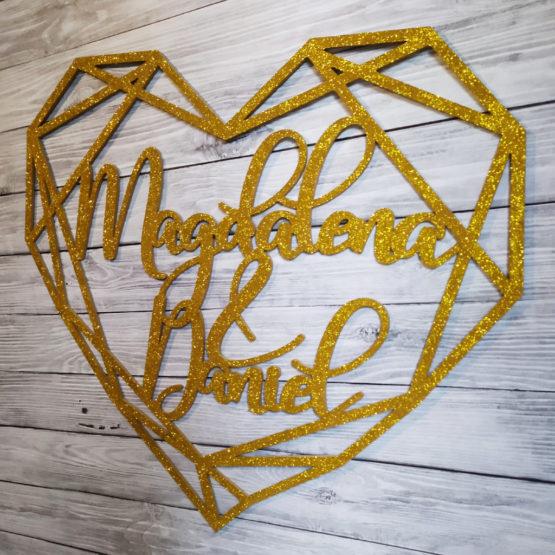 serce geometryczne na wesele, serca geometryczne na wesele, serce geometryczne z imionami, serca geometryczne z imionami, serca geometryczne glamour, 2
