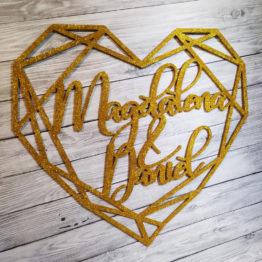 serce geometryczne na wesele, serca geometryczne na wesele, serce geometryczne z imionami, serca geometryczne z imionami, serca geometryczne glamour,