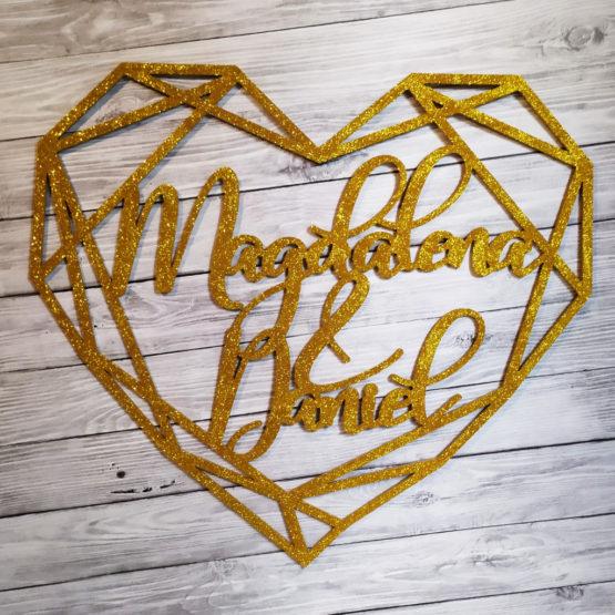 serce geometryczne na wesele, serca geometryczne na wesele, serce geometryczne z imionami, serca geometryczne z imionami, serca geometryczne glamour, 3
