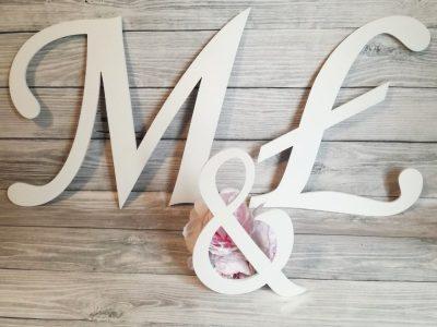 inicjały na ściankę weselną, inicjały na ściankę, inicjały na wesele, inicjały, dekoracje weselne, napisy na wesele, inicjaly monotype,